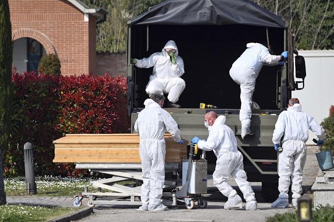 MAIS MORTE NA ITÁLIA: Itália volta a registrar mais de 700 mortes por Covid-19 em um dia.