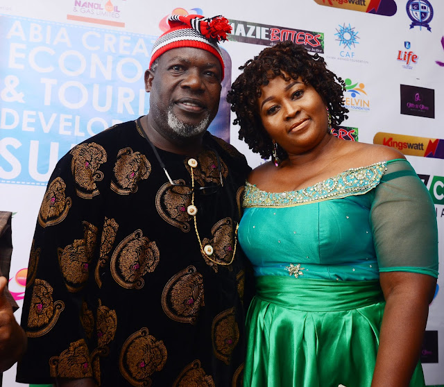 Ejike-Asiegbu-and-wife-Ogechi-at-Abia-Creative-Industry-Summit