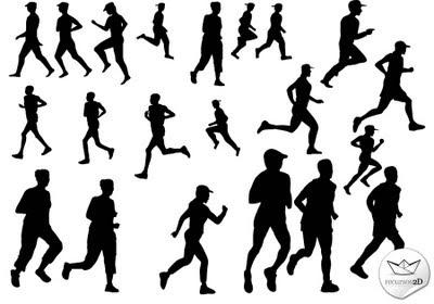 siluetas running