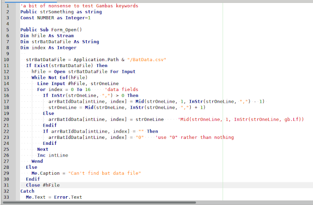 geany editor syntax highlighting gambas