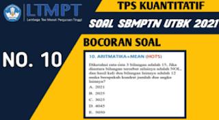 Bocoran Soal UTBK SBMPTN 2021