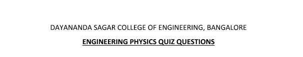 Modern Physics and Laser Optics Notes ~ DSCE