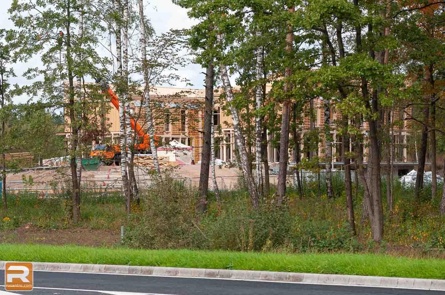 Koka biroja ēka Jelgavā būvniecība 4