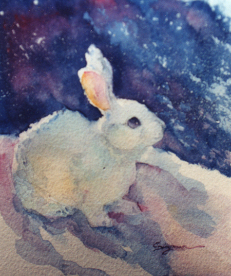 carlene dingman atwater white rabbit in winter. Black Bedroom Furniture Sets. Home Design Ideas