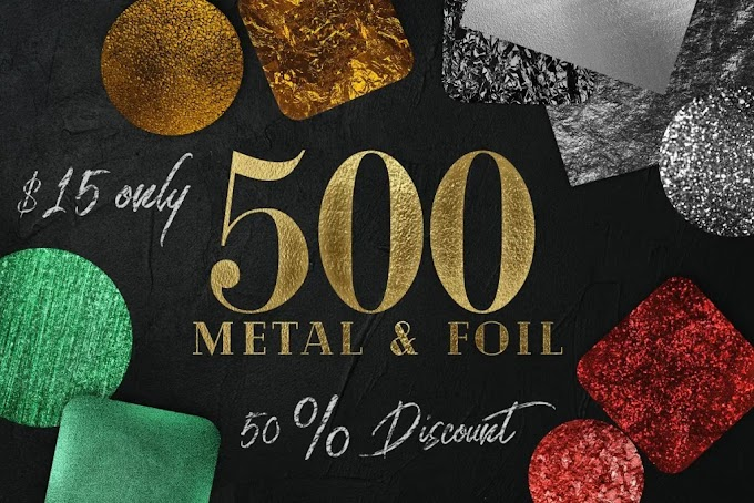 CreativeMarket Huge Gold foil Textures Bundle 2343142
