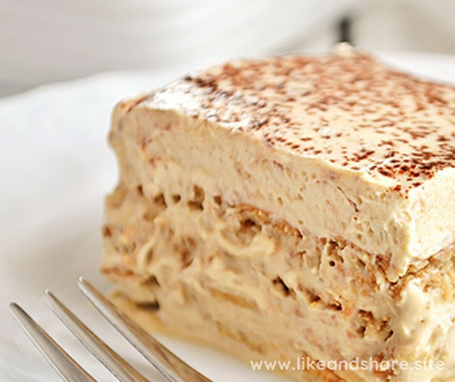 HOMEMADE CAPPUCCINO ICEBOX CAKE
