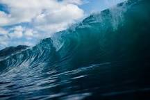 Ocean view of a title wave.