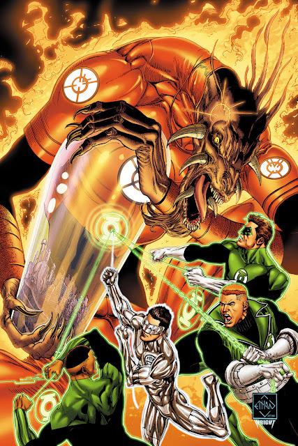 green lantern orange lantern