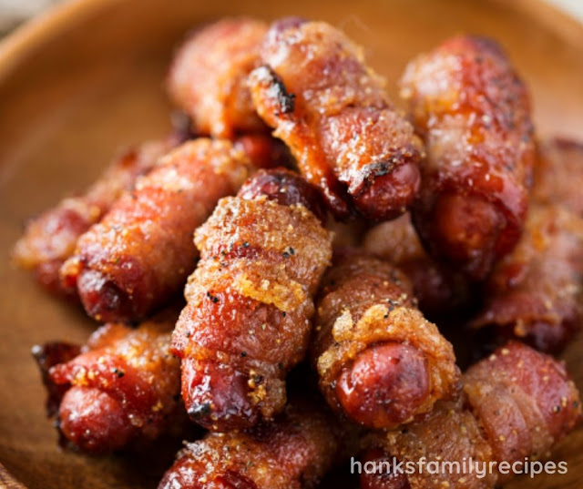 SPICY BROWN SUGAR BACON WRAPPED LITTLE SMOKIES RECIPE