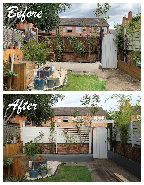 before and after garden renovation