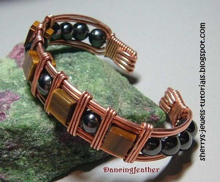 How To Make Wire Wred Cuff Bracelet Tutorials The