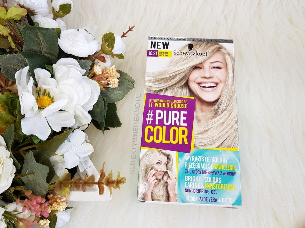 Schwarzkopf Pure Color 10.21 Baby Blond | Żelowa farba do włosów | Efekty na włosach ciemny blond