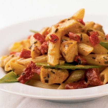 Pasta with Maple Mustard Chicken Recipe