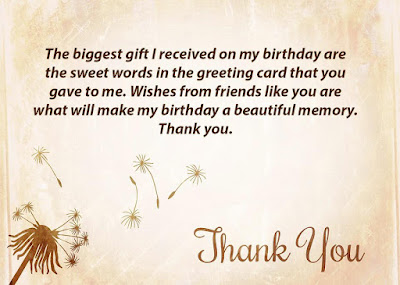 Thank You Message for Birthday