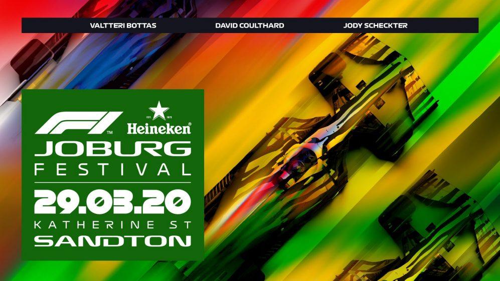 A Fórmula 1, juntamente com a Heineken®, anunciaram o retorno do esporte à África do Sul com um imersivo festival de fãs. Em 29 de março de 2020, o Heineken® F1 Joburg Festival, em parceria com a província de Gauteng, oferecerá aos residentes de Joanesburgo um emocionante evento de fãs e corrida de carros ao vivo com três equipes de F1.