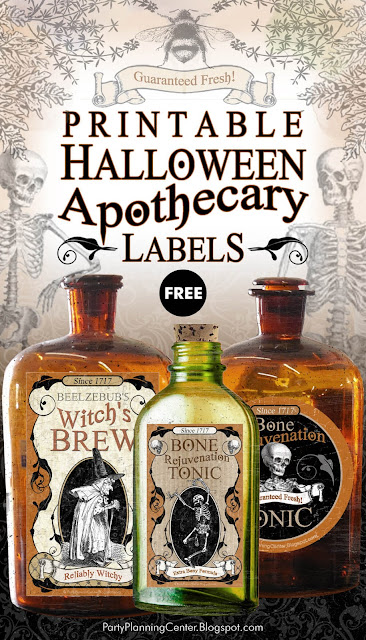 Apothecary labels for Halloween