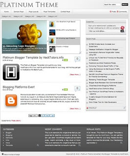Blogspot Template : Platinum Blogger Template