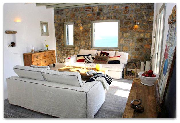 Stone holiday retreat villa in Mykonos, Greece   02artsymphony Stone holiday villa mykonos
