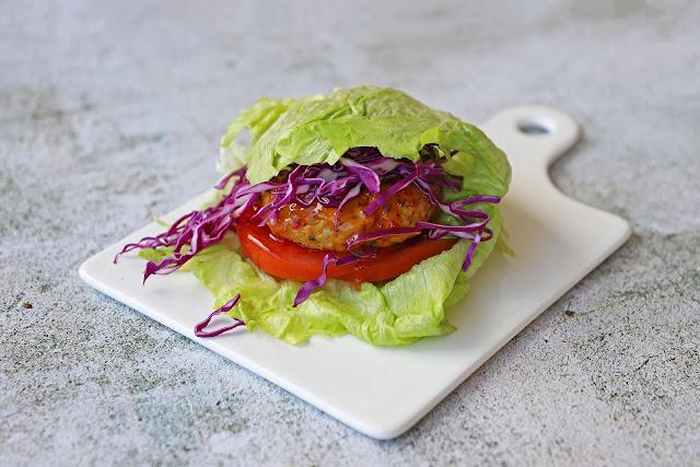 Συνταγή για Ασιάτικο Burger Γαλοπούλας χωρίς υδατάνθρακες (keto burger)