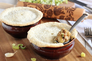 Sausage Gnocchi and Leek Mini Pot Pie