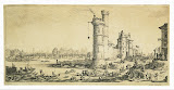 Pont-Neuf in Paris. Second Sheet by Jacques Callot - Cityscape Art Prints from Hermitage Museum