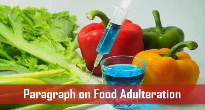 paragraph on food adulteration