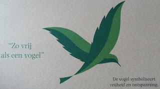 Zo vrij als een vogel; De vogel symboliseert vrijheid en ontspanning Center Parcs
