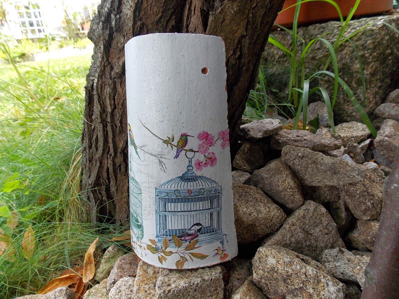 Tejas con decoupage la cajita de ma - Pintura para tejas ...