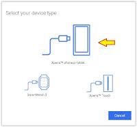 PC Companion - select device