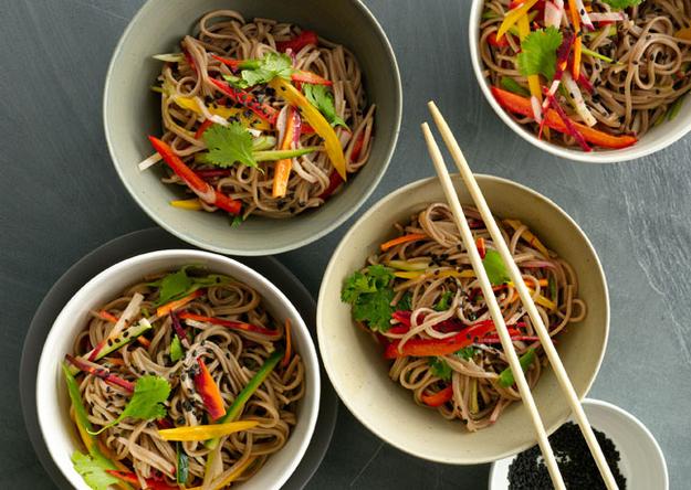 Sesame Noodles with Summer Vegetables