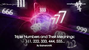 Triple Numbers and Their Meanings: 111, 222, 333, 444, 555…