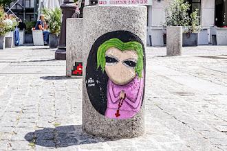 Sunday Street Art : Angel Crow - place Edmond Michelet - Paris 4