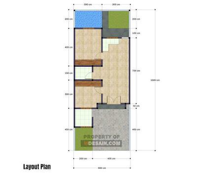 denah rumah minimalis 6x15