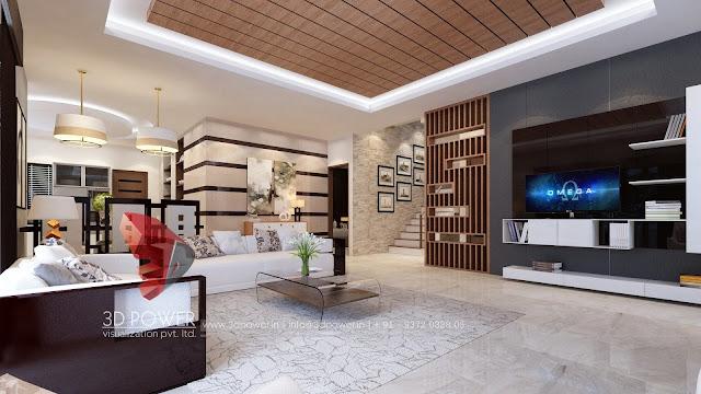 Spacious Living Room 3D Interior