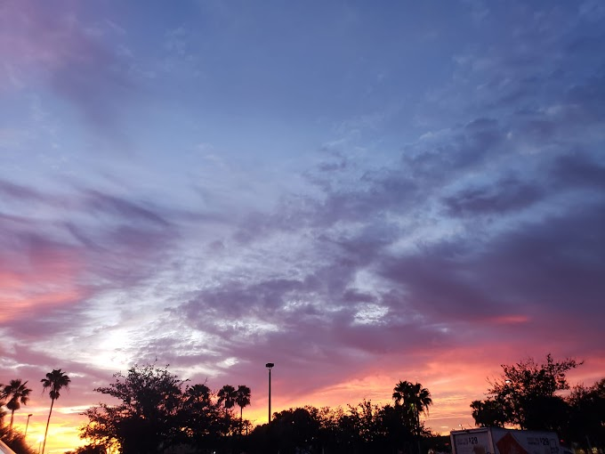 Beautiful Sky at Boynton Beach, Florida