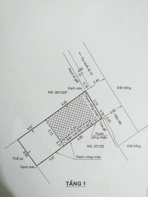 CẦN BÁN MIẾNG ĐẤT TRONG HẺM 351 QL13 LK VẠN PHÚC