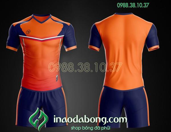 Áo bóng đá ko logo TA Ste màu cam
