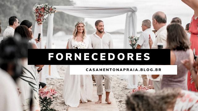 fornecedores casamento na praia