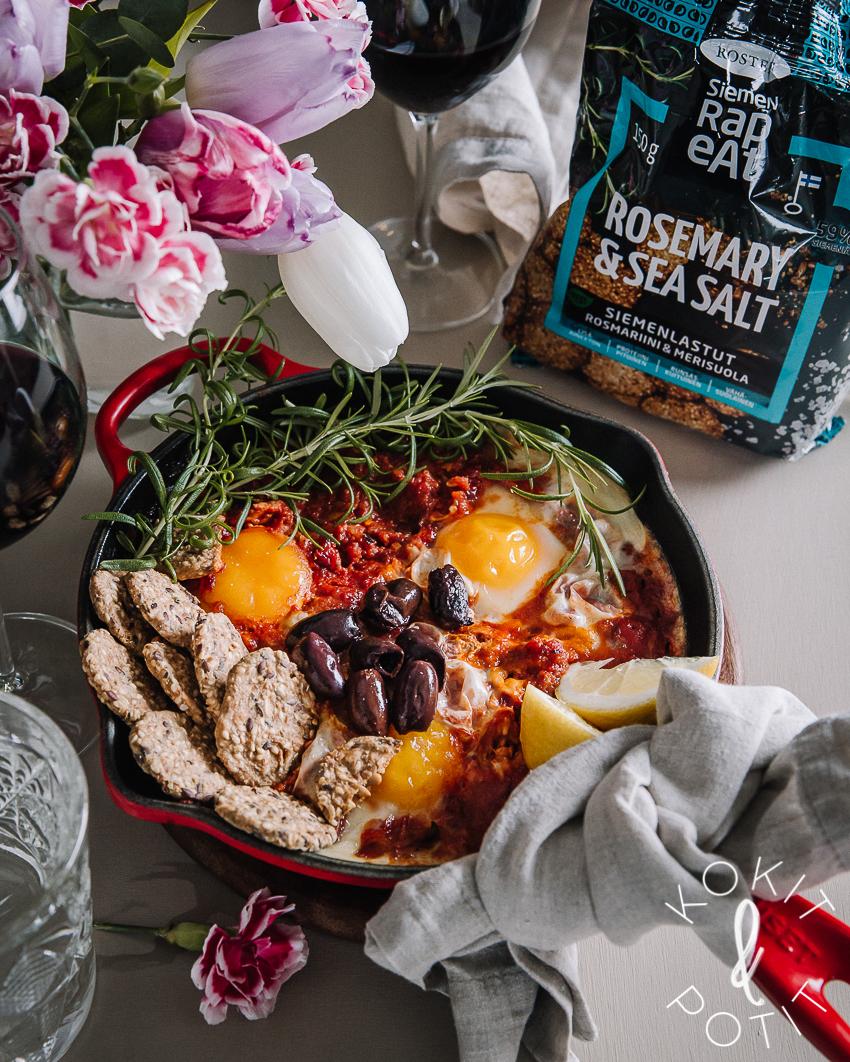 Shakshuka – yksi resepti sopii aamusta iltaan