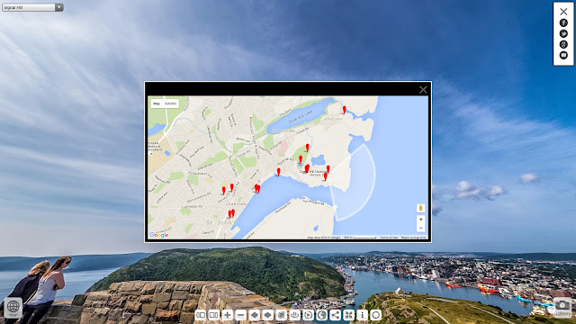 Screenshot of St John's Newfoundland virtual tour