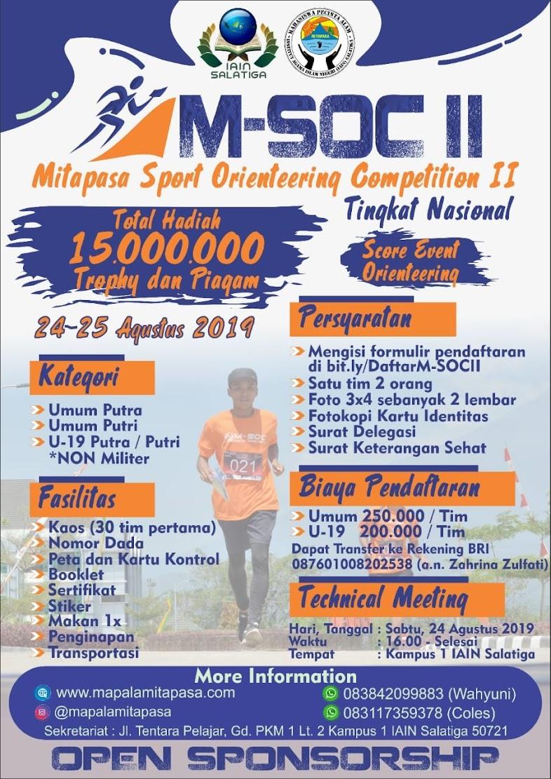 Mitapasa Sport Orienteering Competition (M-SOC) II • 2019