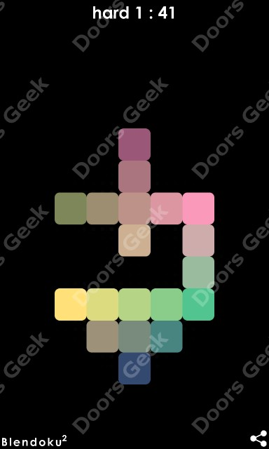 Answers, Cheats, Solutions for Blendoku 2 [Hard 1] Level 41