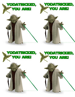 Free Printable Star Wars Yodatrick Cards for St. Patrick's Day.