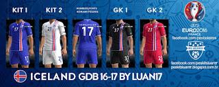 Kit Iceland Errea 2016-17 Pes 2013