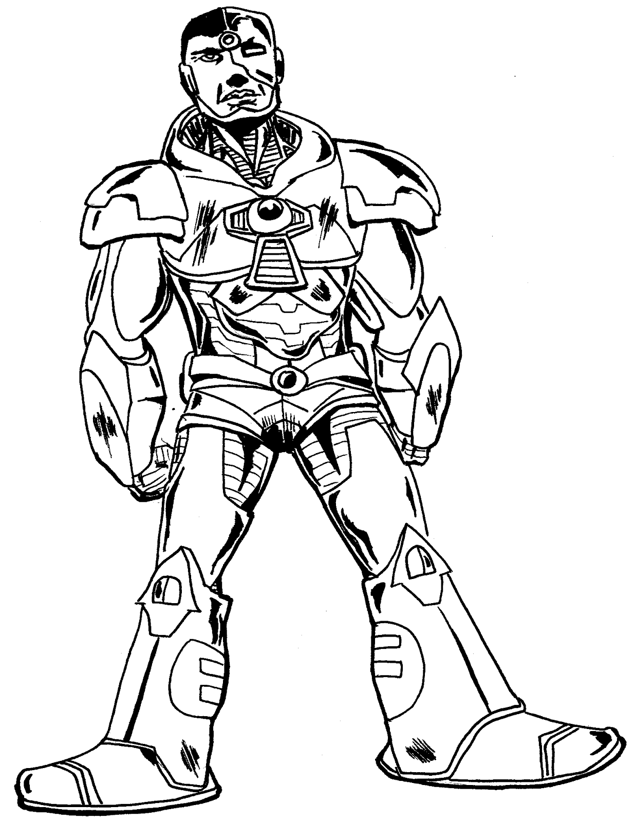Cyborg Teen Titans Go Coloring Pages