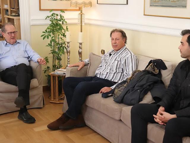 Με τον πρόεδρο του Συνδέσμου Πυρηνελαιουργών Ελλάδος συναντήθηκε ο Παναγιώτης Νίκας