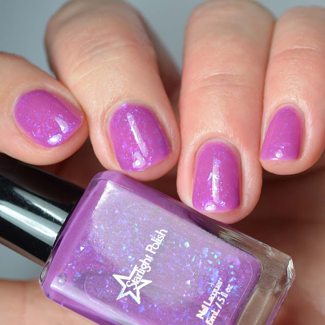 purple flakie jelly nail polish
