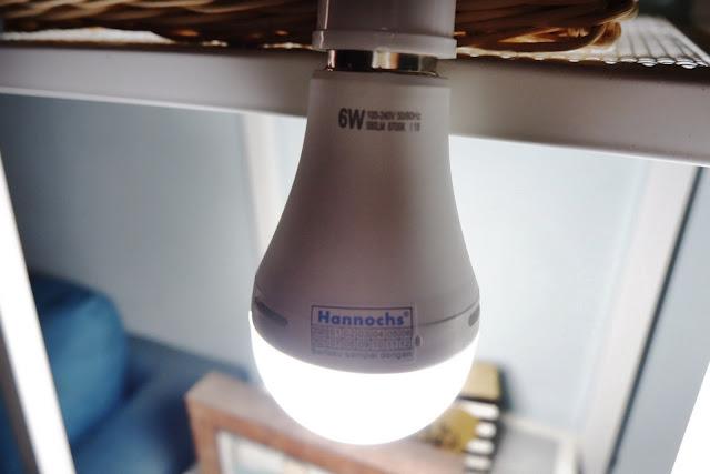 hannochs lampu led nyaman di mata dan otomatis nyala saat mati lampu