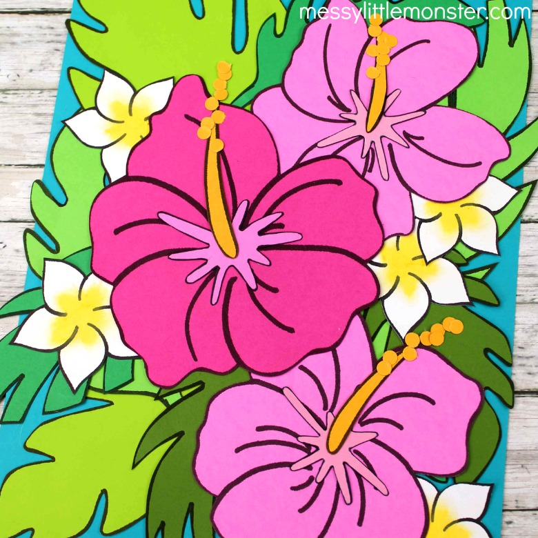 paper flower craft and flower printable