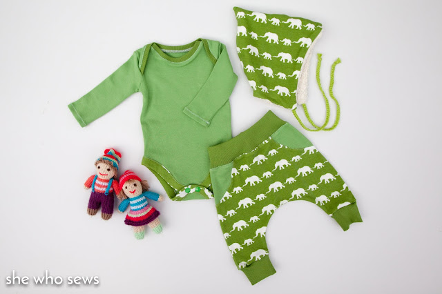 Twig + Tale pixie hat and babyset